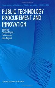 Cover of: Public technology procurement and innovation |