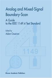 Cover of: Analog and Mixed-Signal Boundary-Scan | Adam Osseiran