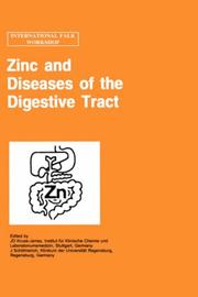 Cover of: Zinc and diseases of the digestive tract