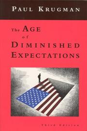 Cover of: The age of diminished expectations | Paul R. Krugman