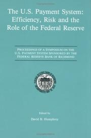 Cover of: The U.S. Payment System