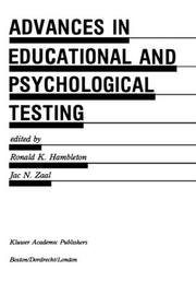 Cover of: Advances in Educational and Psychological Testing |