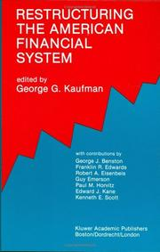 Cover of: Restructuring the American financial system