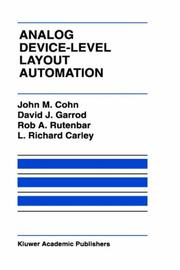 Cover of: Analog device-level layout automation |