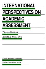Cover of: International perspectives on academic assessment |