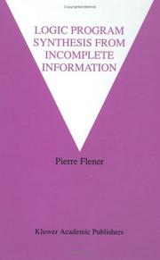 Cover of: Logic program synthesis from incomplete information