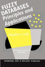 Cover of: Fuzzy databases | Fred Petry