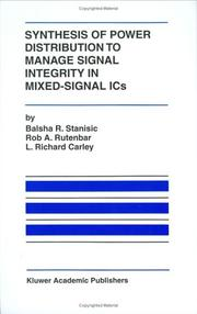 Cover of: Synthesis of power distribution to manage signal integrity in mixed-signal ICs