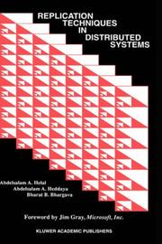 Cover of: Replication techniques in distributed systems