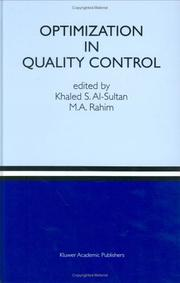 Cover of: Optimization in quality control |