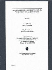 Cover of: Analog Design Issues in Digital VLSI Circuits and Systems (Analog Integrated Circuits & Signal Processing) |