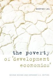 "Cover of: The Poverty of ""Development Economics"""