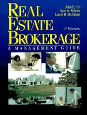 Cover of: Real Estate brokerage | John E. Cyr