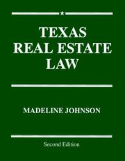 Cover of: Texas real estate law