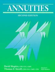 Annuities by Shapiro, David
