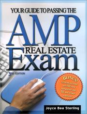 Cover of: Your guide to passing the AMP real estate exam | Joyce Bea Sterling