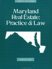 Cover of: Maryland real estate | Donald Allen White