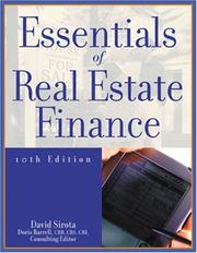 Essentials of real estate finance by David Sirota