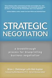 Cover of: Strategic Negotiation | Brian Dietmeyer