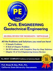 Cover of: Civil Engineering: Geotechnical Engineering: An Ideal Review for the Breath/Depth Exam (Civil Engineering (Engineering Press))