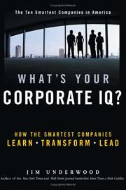 Cover of: What's your corporate IQ? | Jim Underwood