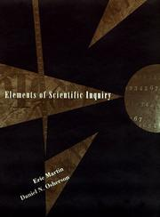 Cover of: Elements of scientific inquiry