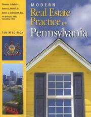 Cover of: Modern real estate practice in Pennsylvania | Thomas J. Bellairs