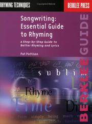 Cover of: Songwriting: Essential Guide to Rhyming
