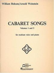 Cover of: Cabaret Songs - Volumes 1 and 2 | William Bolcom