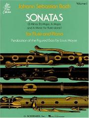 Cover of: Sonatas Flute and Piano | Johann Sebastian Bach