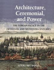 Cover of: Architecture, ceremonial, and power