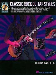 Cover of: Classic Rock Guitar Styles | John Tapella