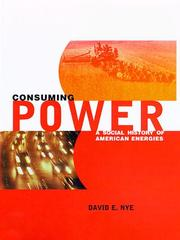 Cover of: Consuming power | David E. Nye