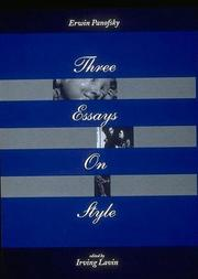 Cover of: Three essays on style