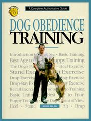 Cover of: Dog obedience training
