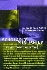 Cover of: Scholarly Publishing |