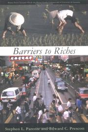 Cover of: Barriers to Riches (Walras-Pareto Lectures) | Stephen L. Parente