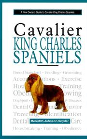 Cover of: A New Owners Guide to Cavalier King Charles Spaniels (New Owner