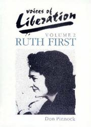 Cover of: Ruth First