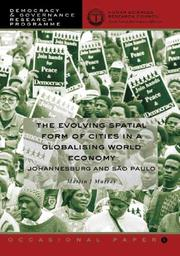 Cover of: The Evolving Spatial Form of Cities in a Globalising World Economy