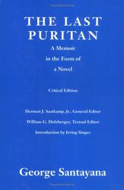 Cover of: The last Puritan