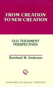 Cover of: From Creation to New Creation