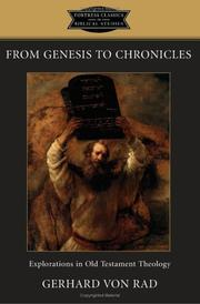 Cover of: From Genesis to Chronicles | Gerhard von Rad