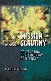 Cover of: Mission under scrutiny
