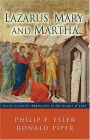 Cover of: Lazarus, Mary And Martha | Philip Francis Esler