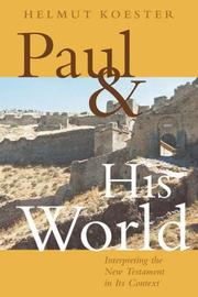Cover of: Paul And His World | Helmut Koester