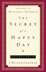 Cover of: The secret of a happy day