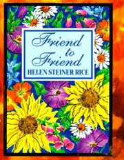 Cover of: Friend to Friend