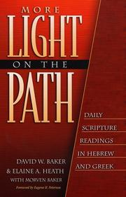 Cover of: More Light on the Path | David W. Baker