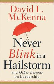 Cover of: Never Blink In A Hailstorm And Other Lessons On Leadership